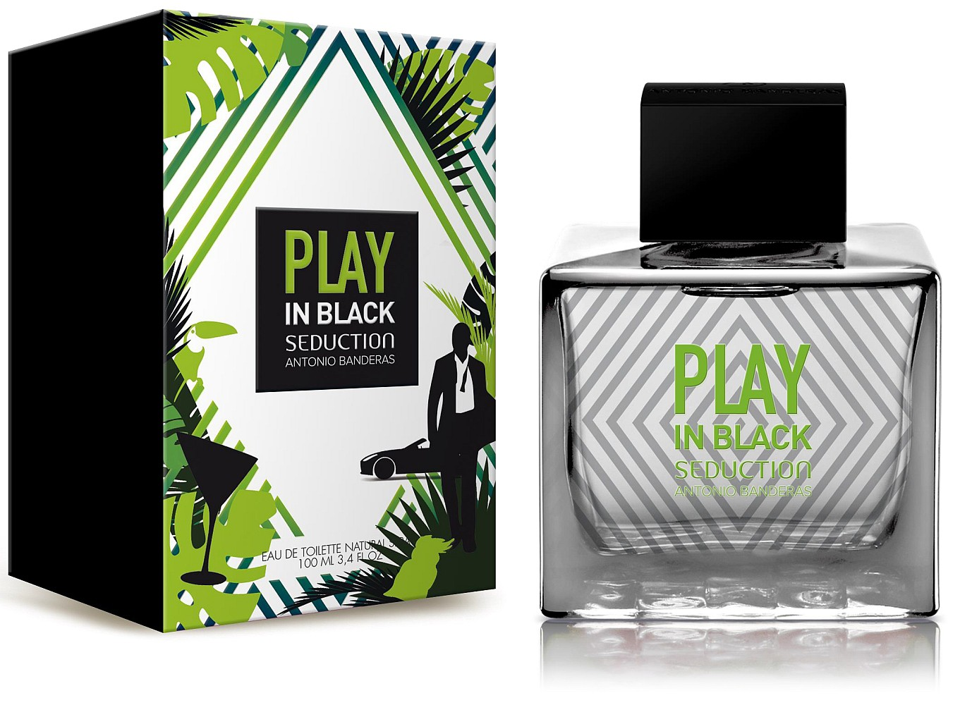 Antonio Banderas Play In Black Seduction For Men edt